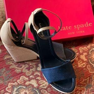 Kate Spade Denim & Leather espadrille shoes